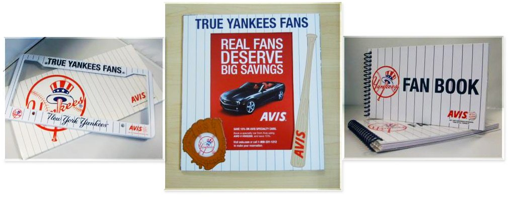 Avis Yankee License Plate Frame and Fan Books