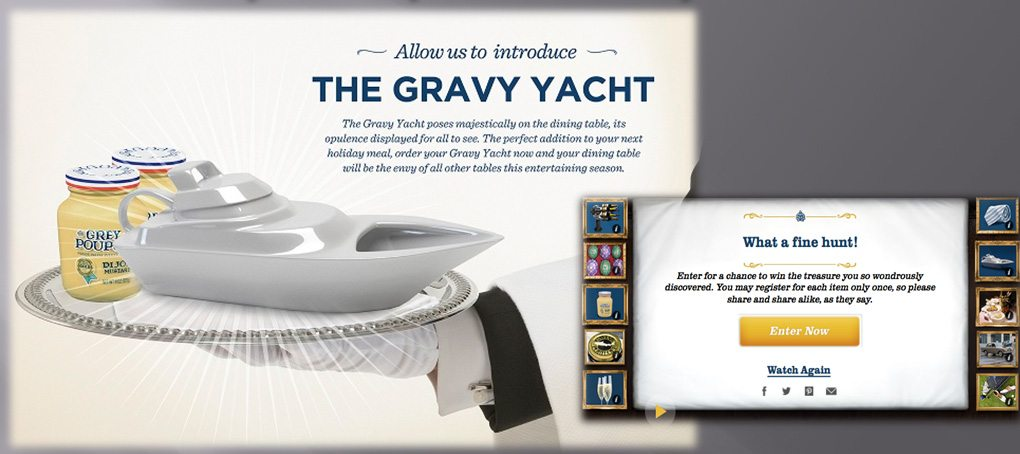 Grey Poupon Gravy Yacht