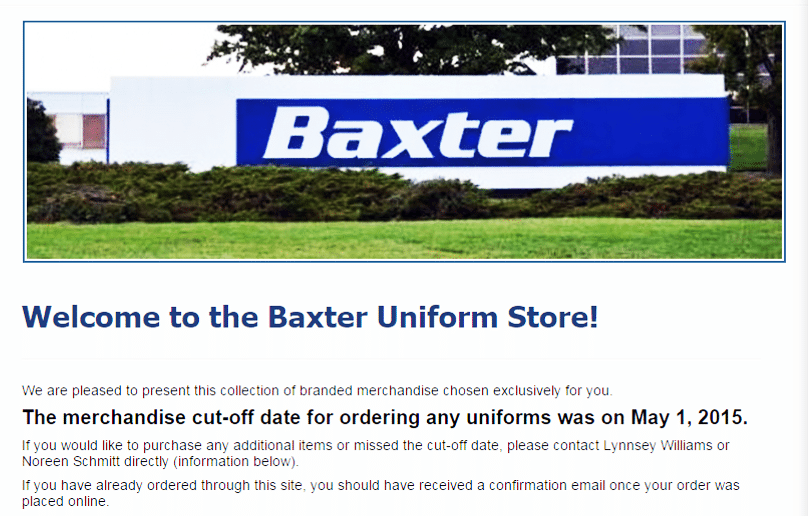 Baxter Uniform Site