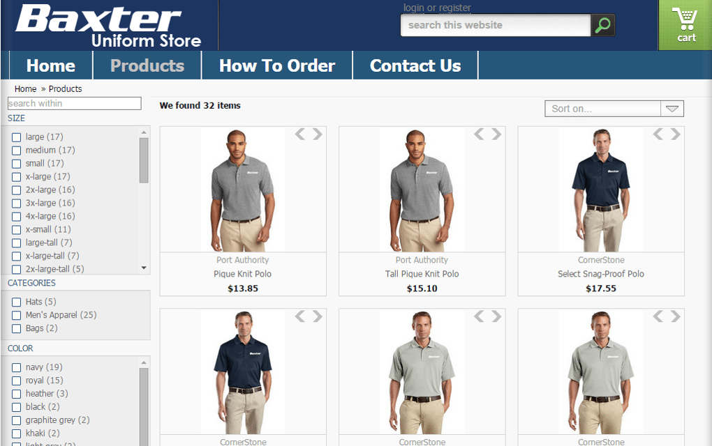 Baxter Uniform Site 2